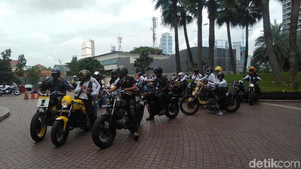 Rayakan Sweet 17 Transmedia, Komunitas Motor Konvoi ke Serpong