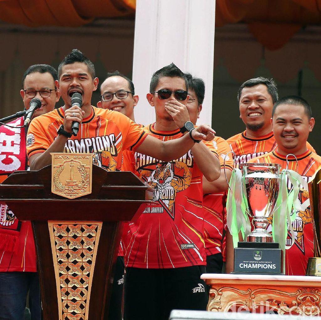 Di Balai Kota, The Jakmania Tuntut Stadion untuk Persija Jakarta
