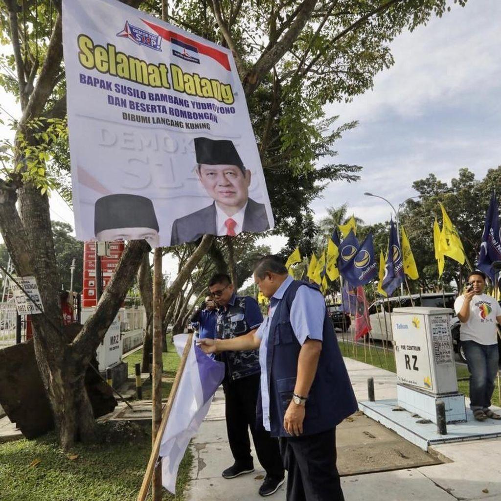 Polisi Tangkap Terduga Pelaku Perusakan Baliho SBY di Pekanbaru