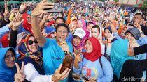 Kampanye di Purwokerto, Sandi Lari Pagi dan Senam Bersama Warga