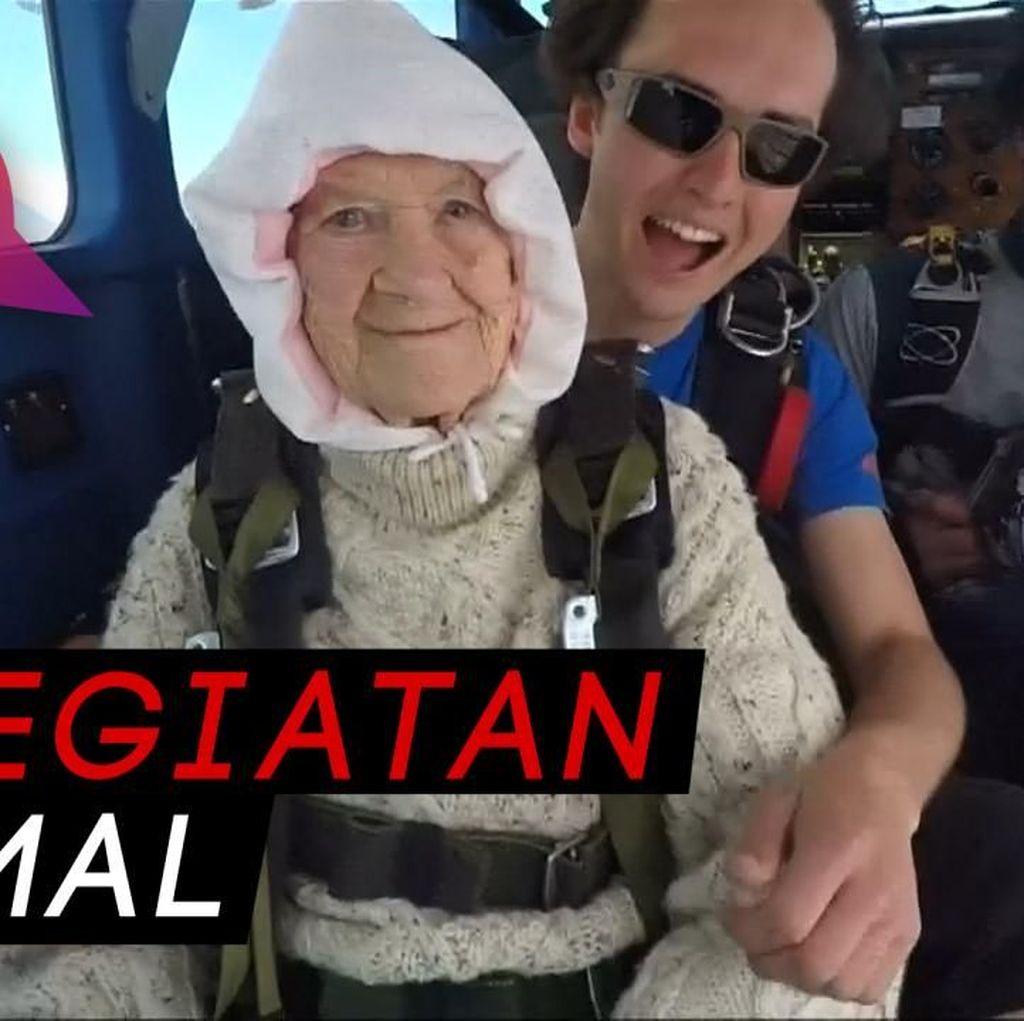 Nggak Ada Takutnya! Nenek 102 Tahun Terjun Bebas dari 4.200 Mdpl