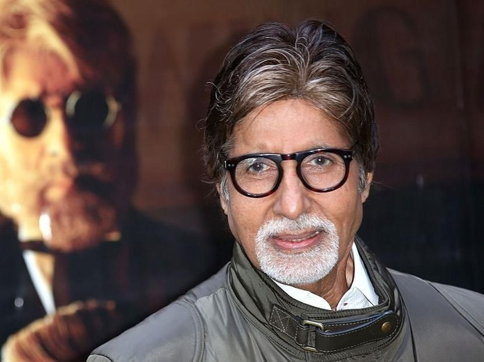 LONDON, ENGLAND - JANUARY 27:  Actor Amitabh Bachchan attends a photocall for Shamitabh at St James Court Hotel on January 27, 2015 in London, England.  (Photo by Tim P. Whitby/Getty Images)