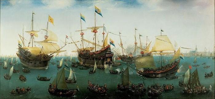 Kembalinya Ekspedisi ke Asia Jilid II dari Jacob van Neck (Lukisan Cornelis Vroom/Wikimedia Commons)