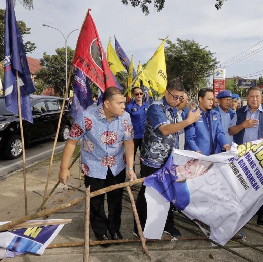 Polisi Dalami Motif Terduga Pelaku Rusak Baliho SBY di Pekanbaru
