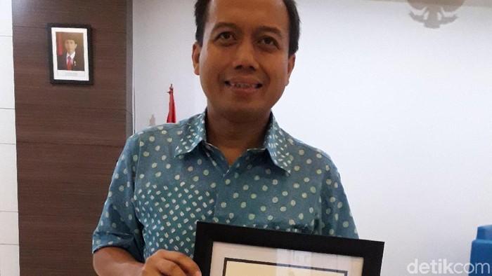 Kepala Pusat Data dan Humas BNPB Sutopo Purwo Nugroho. Foto: Rosmha Widiyani/detikHealth