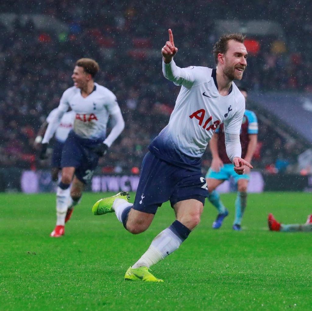 Hasil Liga Inggris: Gol Eriksen di Injury Time Menangkan Tottenham