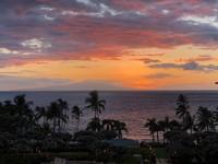 Foto sunset di Pulau Maui, Hawaii yang dipotretnya (Instagram/amberheard)