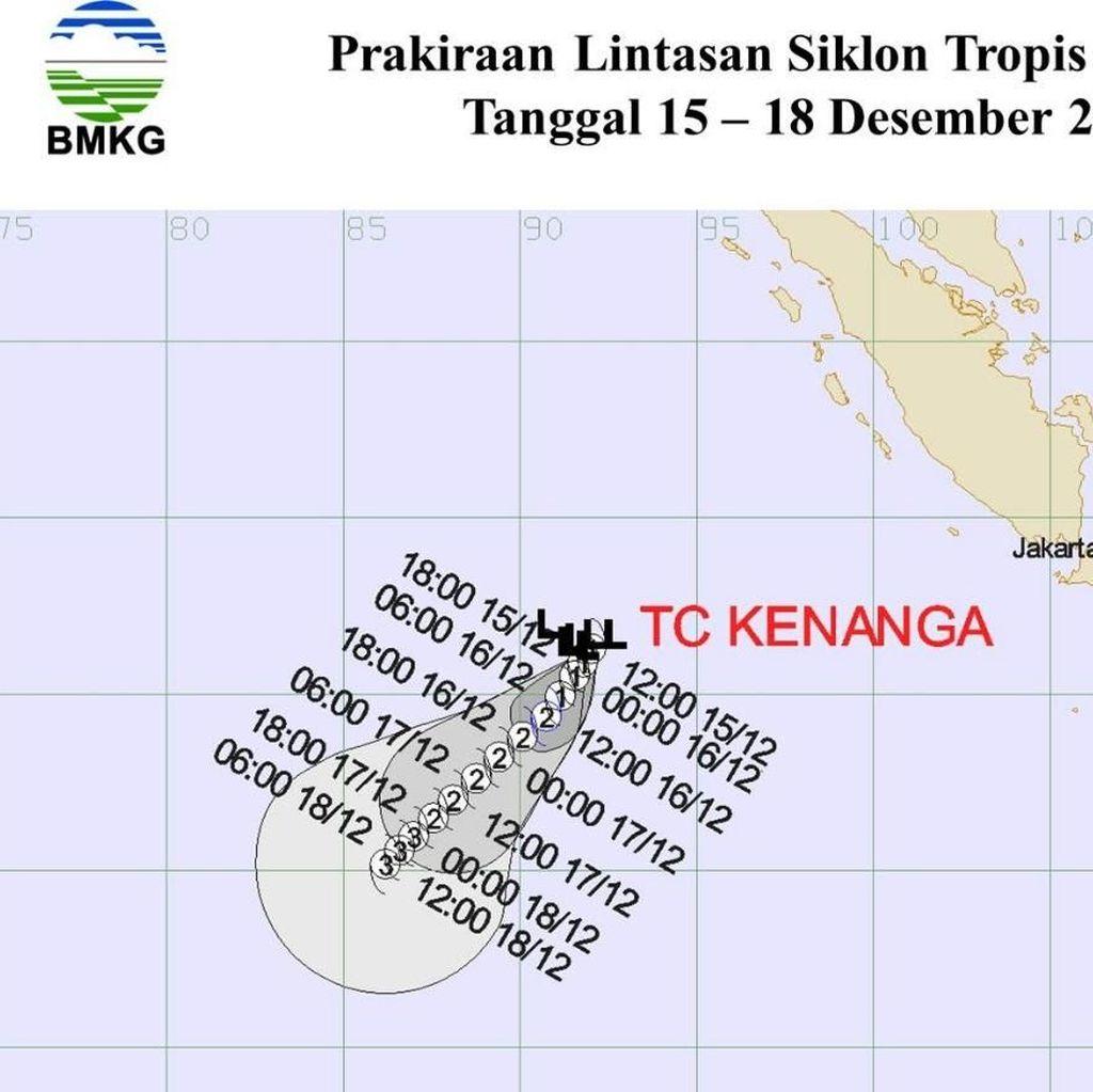 Ada Siklon Tropis Kenanga, BMKG Ingatkan Waspada Gelombang Tinggi
