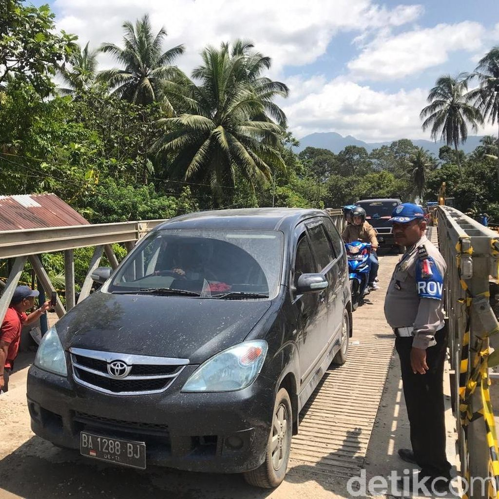 Jembatan Darurat Padang-Bukittinggi Diuji Coba Hari Ini