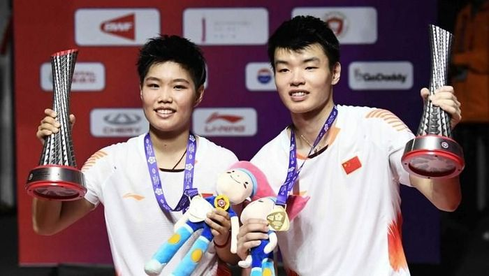 China bawa tiga gelar dari BWF World Tour Finals 2018 (STR/AFP)