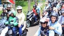 Naik Ojek Online, Prabowo Kopdar Bareng Driver Ojol di Sirkuit Sentul