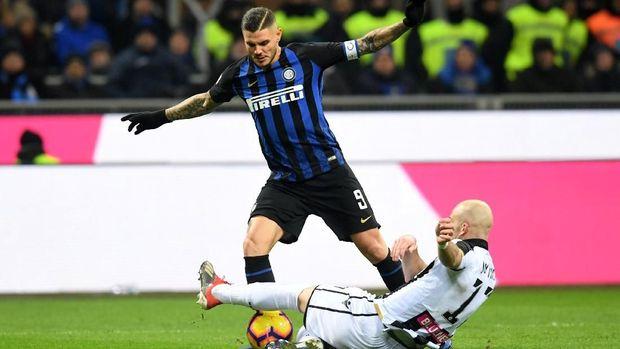Inter Milan kalahkan Udinese 1-0. (