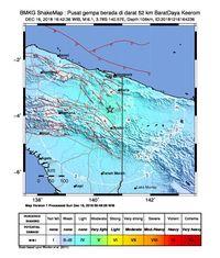 Gempa Magnitudo 6,1 Guncang Papua