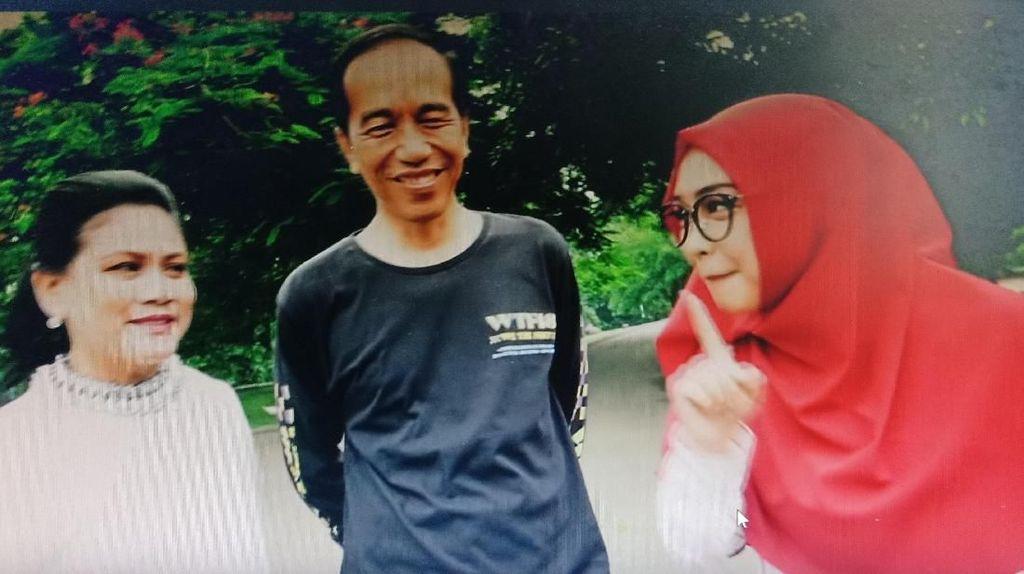 Lihat Jokowi-Iriana Romantis dan Pelukan, Ria Ricis Nangis