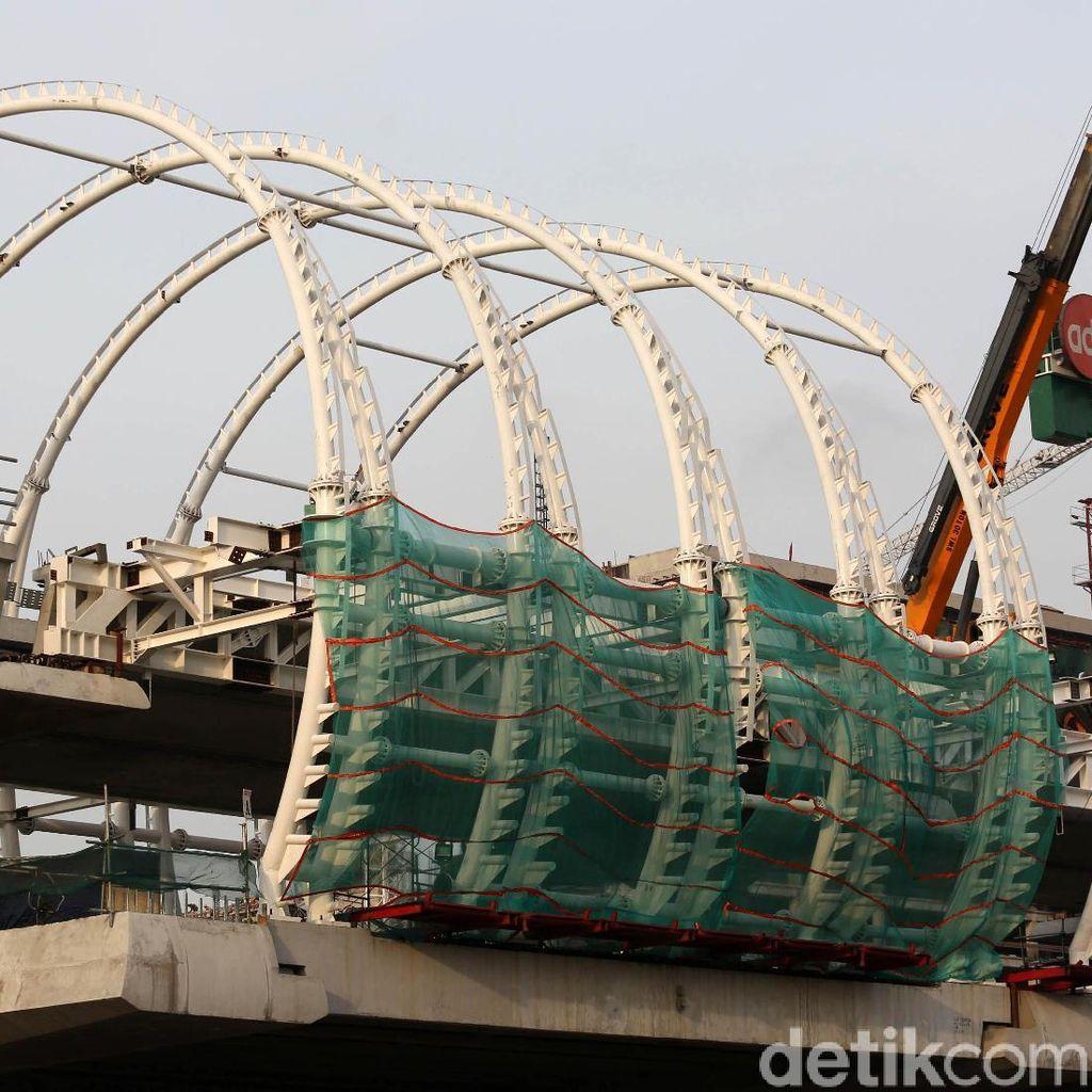 Stasiun LRT Jabodebek di Jatibening Dikebut, Begini Bentuknya