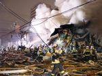 Penampakan Bangunan Rusak Akibat Ledakan di Bar Jepang