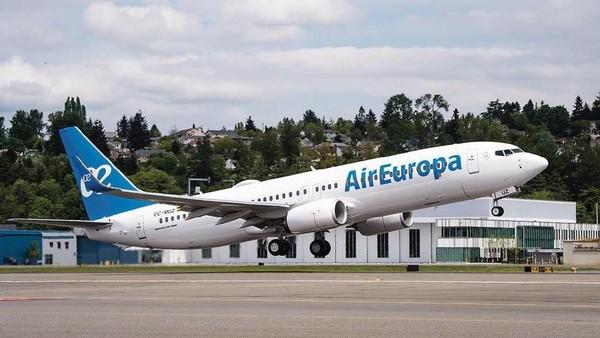 Air Europa Express dinilai di angka efisiensi sebesar 73,4. Tujuan penilaian ini menjadikan efisiensi BBM sebagai faktor persaingan antar maskapai (Air Europa/Facebook)