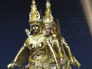 Foto: Baju Unik Finalis Laos, Juara Kostum Nasional Miss Universe 2018