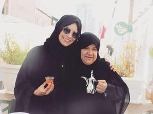 Cantiknya Evangeline Lilly, Bintang Ant-Man Saat Pakai Hijab di Qatar