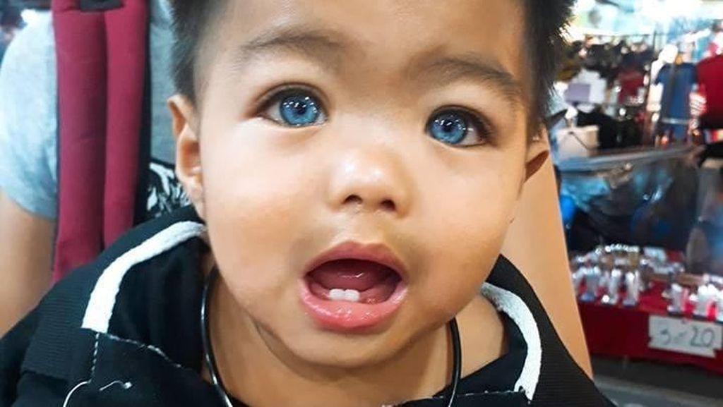 Punya Warna Mata yang Unik, Bocah Viral Ini Disebut Mirip Boneka