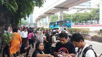 Suasana di depan Gedung Granadi, HR Rasuna Said, Jaksel