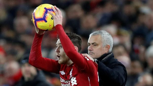 Mourinho juga menginginkan Liverpool melawan Tottenham.