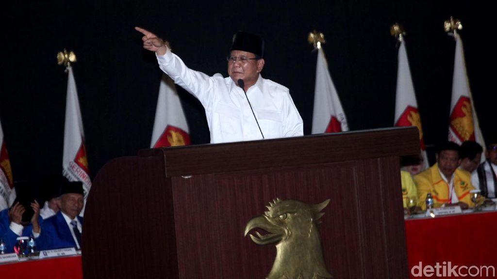 Prabowo: Jangan Berpikir Kita Dilantik Harga Pangan Langsung Turun