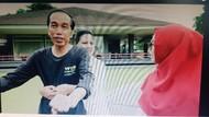 Lucu Banget! Jokowi-Iriana Peragakan Boncengan Romantis di Depan Ria Ricis