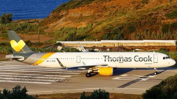 Maskapai Thomas Cook Airlines diganjar dengan nilai 74,7 ada di nomor 7. Laporan ini disusun menggunakan data dari Organisasi Penerbangan Sipil Internasional (ICAO) dan Asosiasi Transportasi Udara Internasional (IATA) (Thomas Cook Airlines/Facebook)