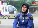 Video: Bripka Indria, Polwan Penerbang Helikopter Pertama di Polri