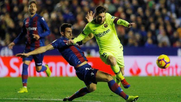 Lionel Messi mencetak hattrick dan dua assist. (