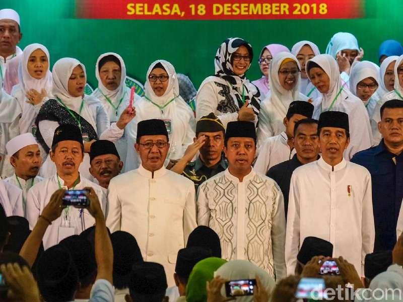Di Ponpes Jombang, Jokowi Janji Pemerintah Kebut RUU Pesantren