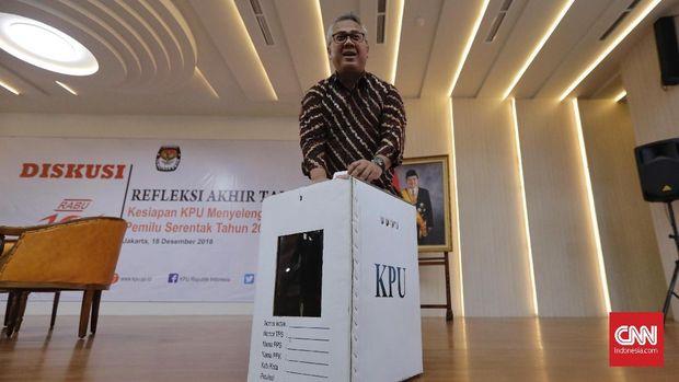 Ketua KPU Arief Budiman berkukuh menolak untuk mengakomodasi OSO ke dalam DCT untuk caleg DPD selama dia tak keluar parpol.