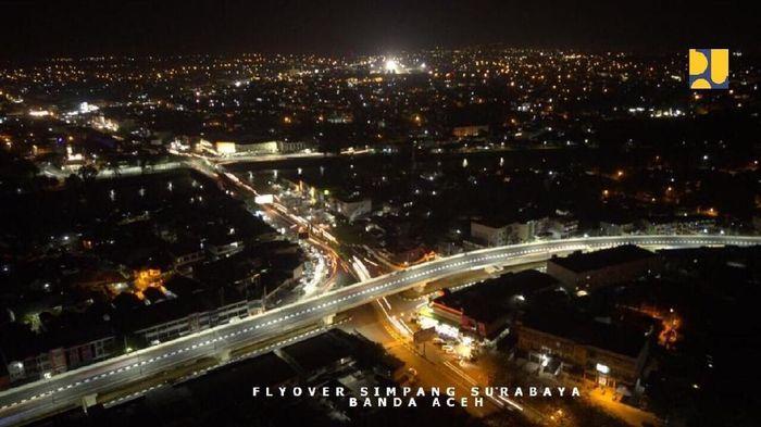 Penampakan Flyover di kota Banda Aceh/Foto: PUPR