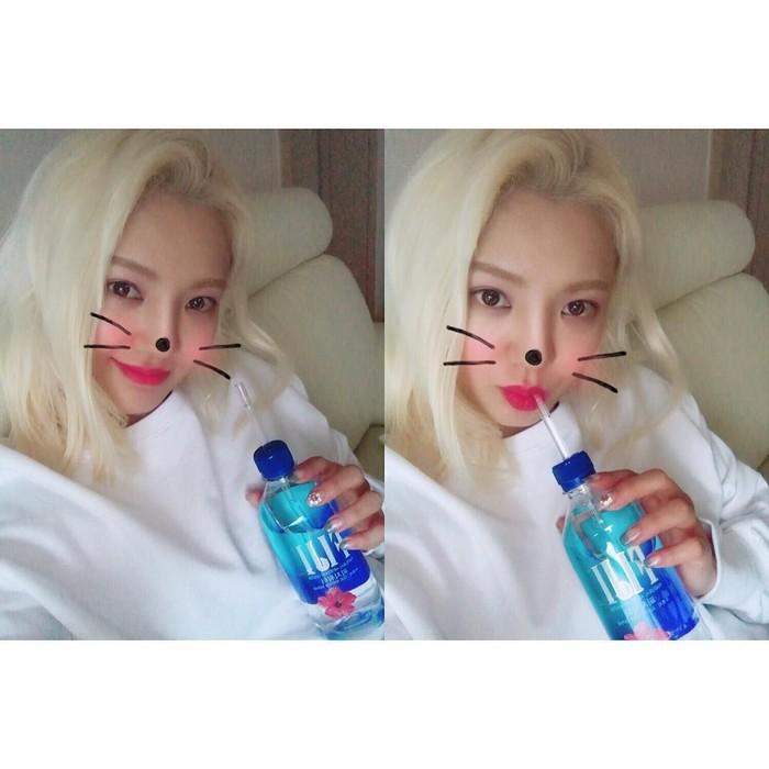 Wanita kelahiran 22 September 1989 ini juga sering berpose dengan emoticon menggemaskan. Seperti yang terlihat pada foto ini. Foto: instagram @watasiwahyo