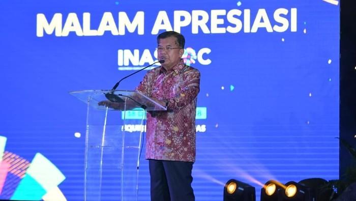 Wapres Jusuf Kalla hadir pada malam apresiasi Inasgoc. (Foto: dok. Setwapres)