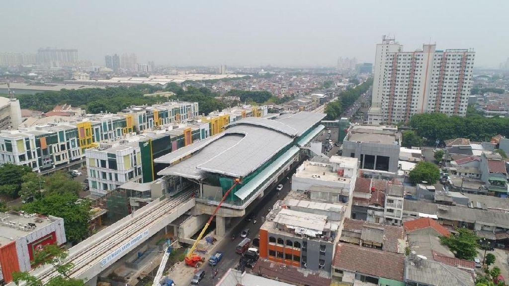 Medio Desember, Progres LRT Jakarta Sudah 90%
