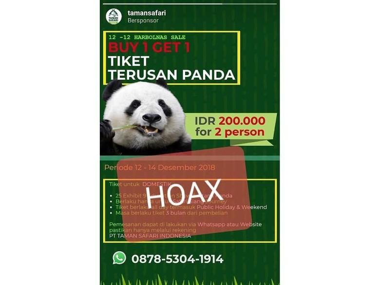 Taman Safari Bogor Kecam Hoax Promo Tiket Istana Panda