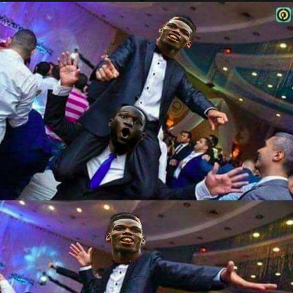 Meme Paul Pogba Kegirangan Jose Mourinho Dipecat