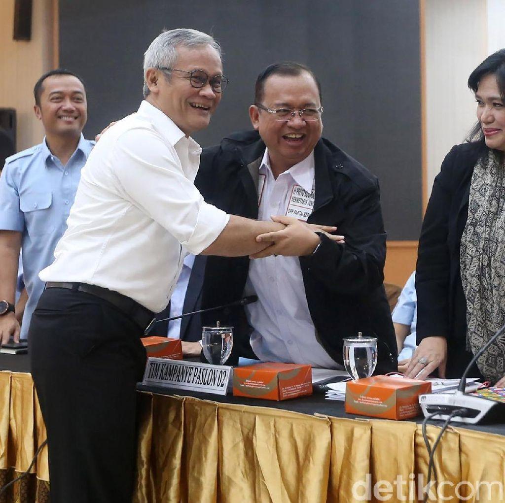 Ademnya TKN Jokowi dan BPN Prabowo Bahas Debat Capres