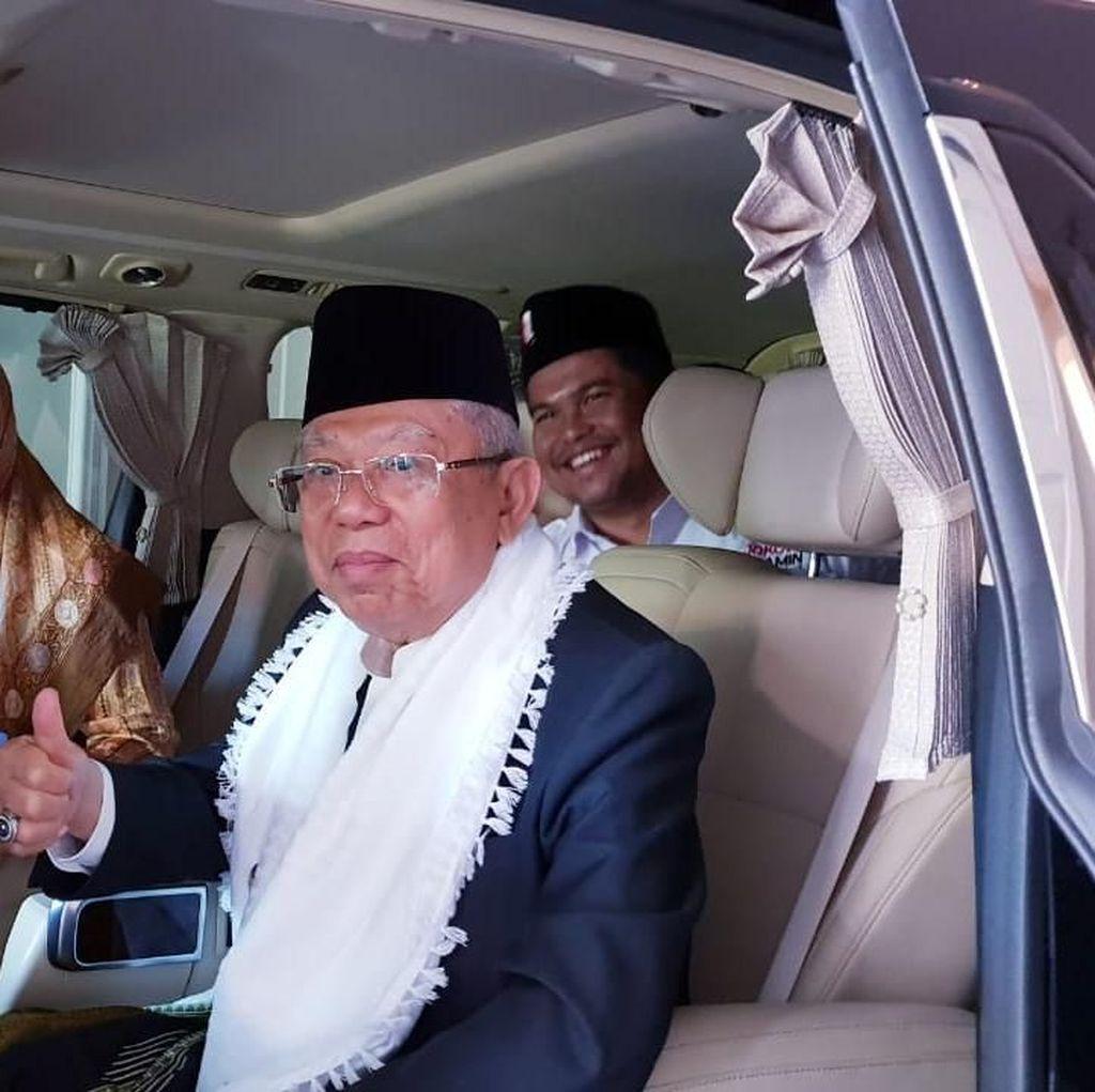Konsolidasi dengan Ulama-Santri, Maruf Amin Safari ke Sukabumi