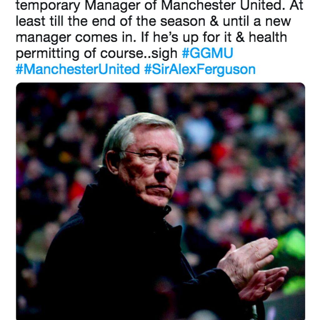 Jeritan Netizen Berharap Alex Ferguson Comeback ke MU