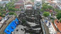 Polisi Dalami Proyek RS Siloam yang Diduga Picu Amblesnya Jl Gubeng