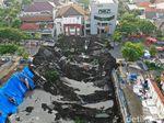 Potret Jalan Gubeng yang Ambles dari Udara