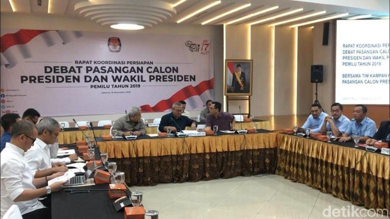 KPU dan Timses Rapat Persiapan Debat Capres 2019