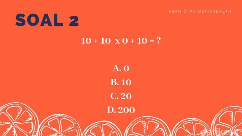 Coba kalau soal kedua, mana jawaban yang benar?