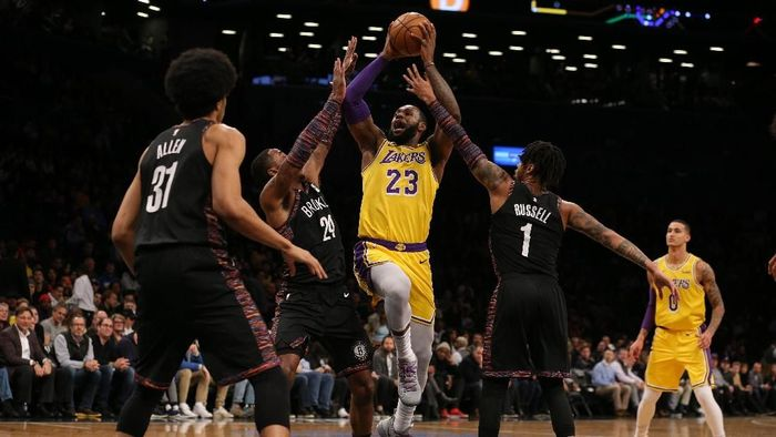 LA Lakers tumbang di markas Brooklyn Nets (Brad Penner-USA TODAY Sports)