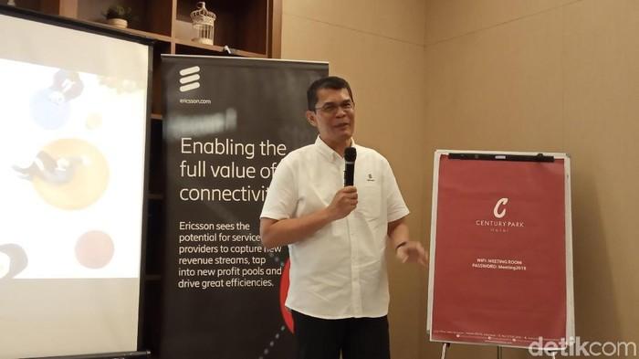 Head of Network Solutions Ericsson Indonesia Ronni Nurmal bicara soal 5G (Foto: Virgina Maulita Putri/detikINET)