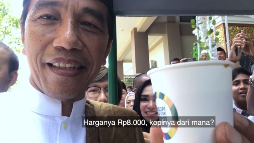 Keseruan Presiden Jokowi Cicipi Koling di Madura