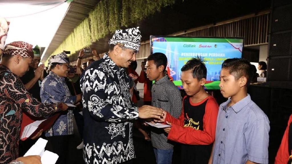 Doa 300 Anak Yatim Iringi Penerbangan Perdana Citilink KL-BWI